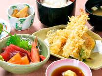 【夕食】和御膳(天ぷら・さしみ)