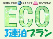 【オープンキャンペーン】夏季特別期間エコ連泊3連泊限定