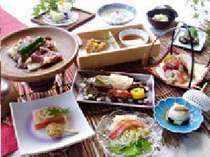 お部屋食料理一例:季節に応じて旬の素材をお出しします♪