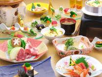 旬の地場産野菜を使った「地場産野菜の9種盛」が楽しめる和食会席【軽井沢会席】