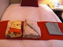 [貸出品] お子様用毛布・おねしょパッド 「数量限定です。予め客室にセットすることもできます。」