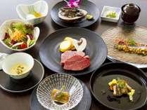 夏に美味しい野菜や魚介と、黒毛和牛を愉しむコース