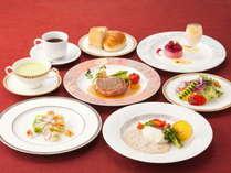 シェフ特製の洋食コースの一例