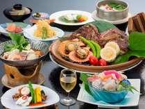 瀬戸内海の旬の食材を使用したスタンダード会席料理「磯花の膳」