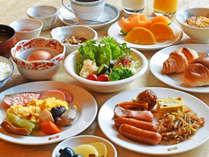 【朝食バイキング】栄養バランスの取れた内容をご用意しております