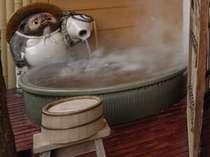 露天付客室は100%源泉かけ流し。温泉三昧の贅沢(一例)