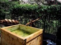 【お部屋付の露天風呂一例】  大自然の澄んだ空気を胸いっぱい吸い込みながら、温泉をお楽しみください