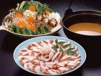 【料理一例】  *東丹沢名物の猪鍋。10月~3月にかけてがシーズンになります。ぜひご賞味ください