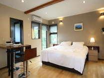 ステューディオのお部屋 ベッドはシングル2つ、またはキング1つから選択できます