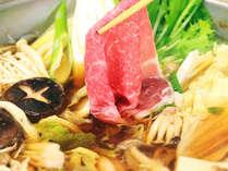 ・夕食は「豊後牛A5ランク」をしゃぶすき鍋で