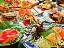 *【夕食一例】伊勢海老・鮑・カニ・金目鯛/海の味覚がもりだくさん!豪華海鮮懐石コースです。