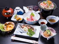 *お夕食一例(イメージ)/季節の旬と地元の食材をふんだんに使っております。
