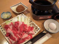 【旅先で☆牛のすき焼き】~お手軽定食★新シリーズ♪~