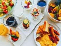 朝食ビュッフェ(洋食一例)