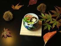 自家栽培原木しいたけの茶碗蒸し