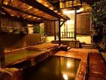 【大浴場】男女別大浴場には、内湯、低音サウナ、露天風呂2つ、川湯が備わっております