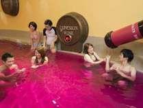 グループ施設ユネッサン内 ワイン風呂