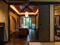 「大涌谷」【露天風呂付特別客室「箱根遊山」】お庭が付いた贅沢な造りです