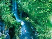 【車沢の湯】この地で古くから親しまれてきた「呉坊の滝」