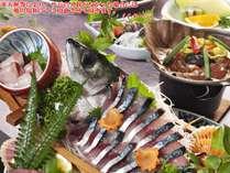 清水サバ姿造り付はちきん地鶏の朴葉味噌焼き(イメージ)