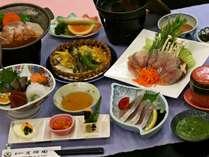 当館人気食材満喫プラン♪高知県ならではの「葉ニンニクのヌタ」もお愉しみ頂けます。