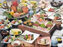 ◆皿鉢料理+土佐牛サイコロ