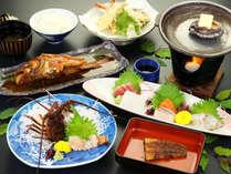 ◆プレミアム◆伊勢海老、鮑の付いた豪華なご夕食です♪