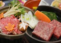飛騨牛をステーキとすき焼きで食べ比べ。カップルやご夫婦で分け合って!