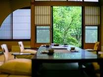 静寂に包まれた【離れ】という贅沢 『青巒荘・山法師』半露天風呂付き客室で最高級会席を♪