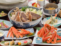 【蟹づくし★貸切風呂付き】温泉満喫プラン☆★焼きガニ、カニ鍋、釜飯…北陸の【蟹】を6種のお料理で