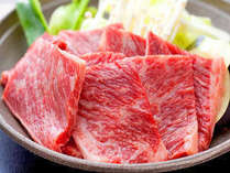 【夕食】ボリューム満点!大分県を代表する豊後牛陶板焼き2倍!!