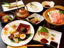 『えびの』の里山料理と『山霧の雫湯』を楽しむプラン≪1泊2食付≫