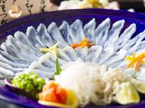 【季節限定】6種の味が楽しめる「ふぐ三昧」のご夕食 庭園露天風呂付客室でかけ流しの温泉も満喫