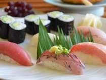 【寿司会席プラン】鮮度抜群、地元のお寿司屋さんでの夕食&庭園露天風呂付客室