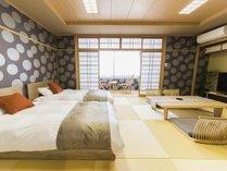 DX和室イメージ◆ベッドは世界のシモンズベッドを使用◆広めのお部屋となっております。