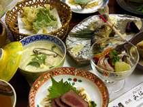 地のものづくしの郷土料理(料理一例)