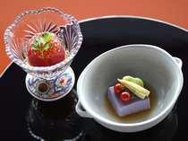 和食会席最後は、ほのかに甘いさっぱりとしたデザートをご用意。(写真はイメージです)
