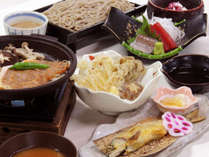 【夕朝食付・秩父御膳】 夏の秩父グルメ満載のご夕食 [くるみ蕎麦・豚みそ陶板焼]