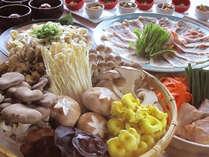 【夕朝食付・鍋プラン】 冬限定・地元食材をたっぷり使用した豚しゃぶ鍋のご夕食 ※2名様~