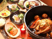 グレードアッププランの夕食一例