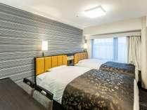 ツインルームA(広さ14.7~16.2平米/ベッド幅120cm×2台)