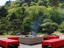 【庭園喫茶水琴亭】野鳥のさえずりに耳をかたむける