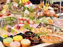 瀬戸内・小豆島の美味しいものが勢ぞろい!当館一番人気の夕食メニュー「オリーブバイキング」