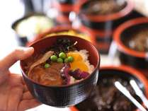 お好きな瀬戸内魚のヅケを盛り付けて♪「朝ひしお丼」