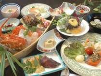 【食事】伊勢海老舟盛り又は、錦江鯛舟盛りを選べる人気の海鮮舟盛りプラン/夕食