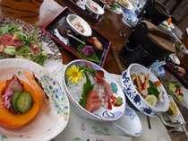 日本海海鮮鍋とカニ付♪料理グレードUP天地人御膳!