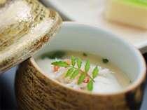当館名物の「蟹味噌ムースの茶碗蒸し」の画像