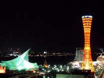 13Fレストラン神戸倶楽部からはメリケンパークの夜景が一望できます♪