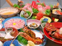 ●10/1~■とろける美味!お魚しゃぶしゃぶコース■大サービス!伊勢海老の鬼殻焼き付き♪