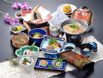 *お食事は岡山ならではの旬の食材を使用した会席料理をご用意致します(一例)